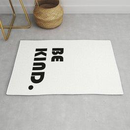 etre gentil ,Be kind Print quote for living room Rug