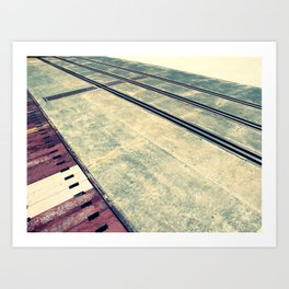 Airplane Hangar Floor 3 Art Print