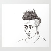 matty healy Art Prints featuring Little Less Matty Healy  by Little Less Lovely
