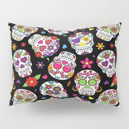 Colorful Sugar Skulls Pillow Sham