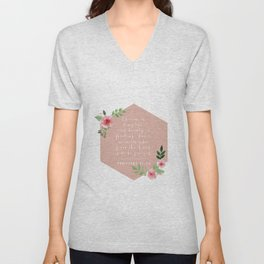 Charm Is Deceptive, and Beauty Is Passing; but A Woman Who Fears the Lord Is to be Praised. -Proverb Unisex V-Neck