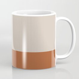 Minimalist Solid Color Block 1 in Putty and Clay Coffee Mug