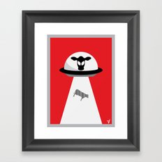 Space Cows Framed Art Print