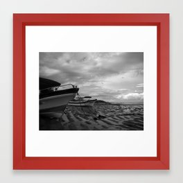 Heaps Beached Framed Art Print