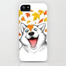 Autumn husky iPhone Case