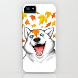 Autumn husky iPhone Case