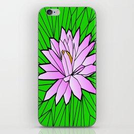 VITRAL POND FLOWER iPhone Skin