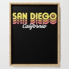 Retro San Diego California Serving Tray