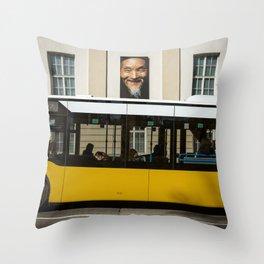 Bus in Stuttgart Throw Pillow