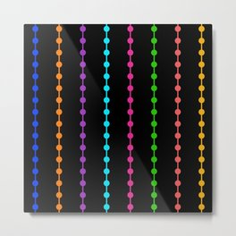 Geometric Droplets Pattern - Rainbow Colors Metal Print