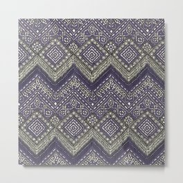 beaded chevron plum Metal Print