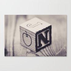Toy cube... Monochrom Canvas Print