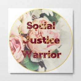 Social Justice Warrior - Pretty floral print Metal Print