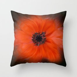 Poppy Square Throw Pillow