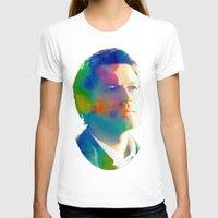 castiel T-shirts featuring Castiel  by mishainmydreams