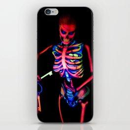 Black Light Skeleton  iPhone Skin