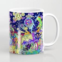 Illustration Comic: Neon Glow in Color Coffee Mug