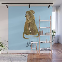 Love each otter Wall Mural