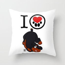 I Heart furBags - Rottweiler Throw Pillow