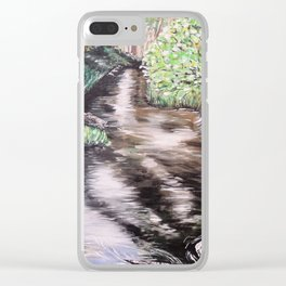 RIVER VIEW IN WONDERLAND - Original Fine art painting by HSIN LIN / HSIN LIN ART Clear iPhone Case