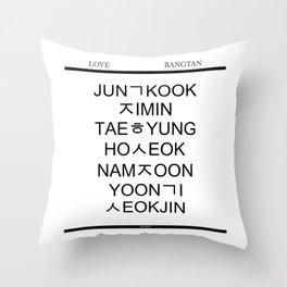 BTS Hangul Time! Throw Pillow