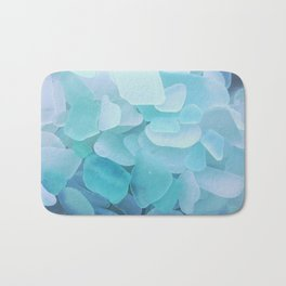 Beach Glass, assorted blues Bath Mat