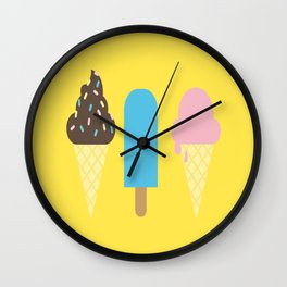 Icecreams Wall Clock