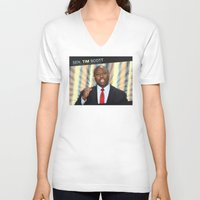 tim shumate V-neck T-shirts featuring Tim Scott by politics