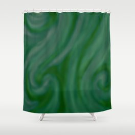 Green SWIRL Shower Curtain