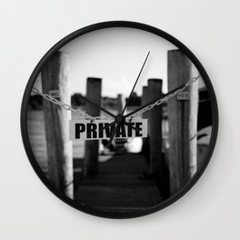 Private Wall Clock