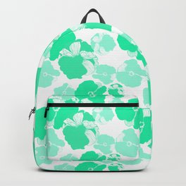 Graphic Roses Minty Green Backpack