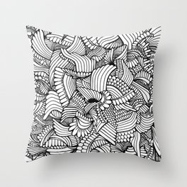 Abstract Fullpage Doodle Throw Pillow