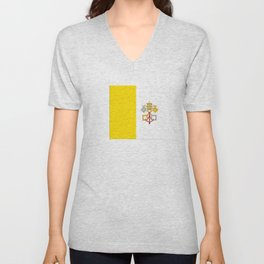 Flag of vatican city Unisex V-Neck