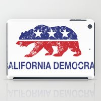 political iPad Cases featuring California Political Democrat Bear Distressed by Democrat