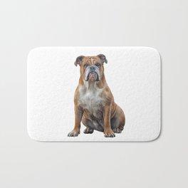 Drawing dog breed English Bulldog Bath Mat