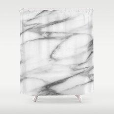 Pentelic grey marble Shower Curtain