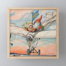 """The Christmas Aeroplane"" by Jenny Nystrom Framed Mini Art Print"