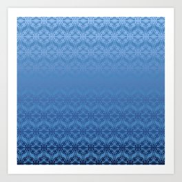 Blue Weaves Pattern Art Print