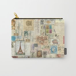 Quirky Documents pastel Patchwork Carry-All Pouch
