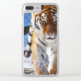 Tiger Strut Clear iPhone Case