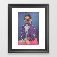Lady Juxtapose Framed Art Print