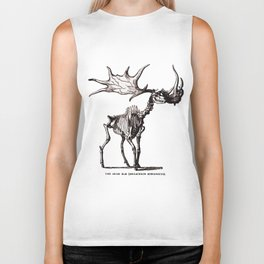 Irish Elk Skeleton Biker Tank