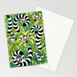 Lemurs on Madagascar Rainforest Stationery Cards