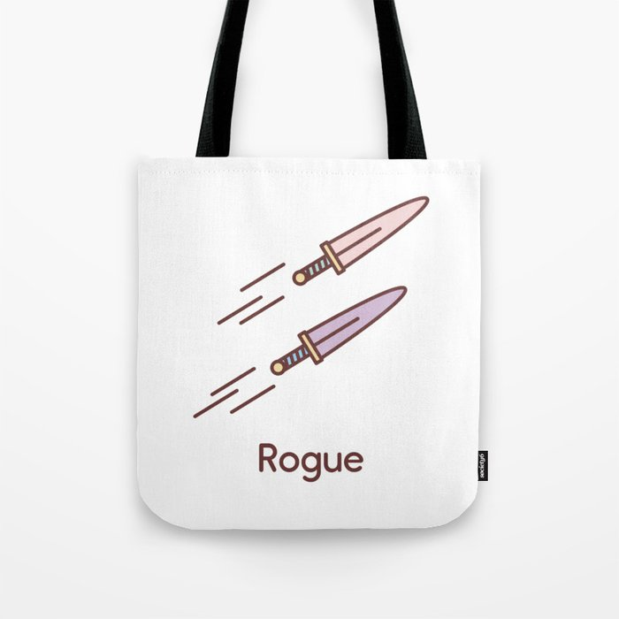 Cute Dungeons and Dragons Rogue class Tote Bag