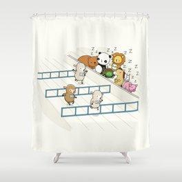Sleep watching Shower Curtain