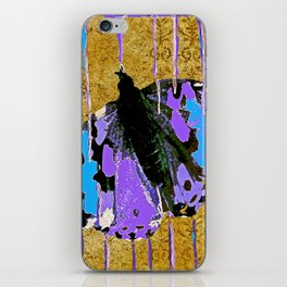 Butterfly Vison in Blue and Purple iPhone Skin