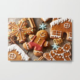 Gingerbread Cookies Metal Print