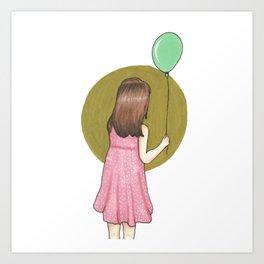 Girl with a Balloon Art Print