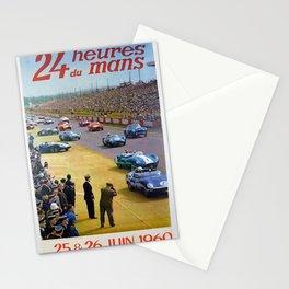 24 Heures du Mans 1960 Poster Stationery Cards
