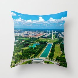 DC from Above Throw Pillow